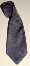 BUGATTI - Dark Purple - Paisley Design - 100% SILK Handmade Neck TIE *HANDSOME!