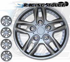 "4pcs Set 15"" Inches Metallic Silver Hubcaps Wheel Cover Rim Skin Hub Cap #515"