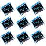 """0.96"""" 128x128 I2C IIC SPI seriell Weiß OLED LED LCD Display Modul Anzeigemodule"""