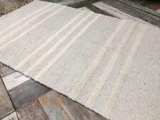 ❤️Grey & Triple White Stripe Cotton & Jute Runner Rug 70cm x 200cm Flat Weave