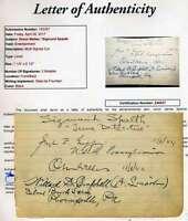 Orson Wells Jsa Coa Hand Signed Album Page Authenticated Autograph