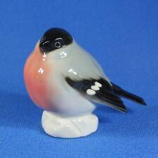 Bullfinch Bird Lomonosov Porcelain Figurine, Russia IFZ