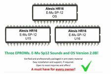 Alesis HR16 / HR16B - Soundchip Upgrade E-MU SP12 kit incl. Firmware 2.0