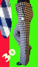 VINTAGE 60 PLAID golf dork mad pant checker 30 clown leisure suit pimp gingham