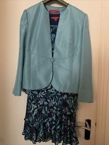 Jacques Vert 3 Piece Suit Size uk 14