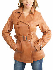 Leather Hip Length Outdoor Button Coats & Jackets for Women