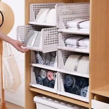 Foldable Stackable Slidable Multi Purpose Storage Drawer Box Kitchen Study