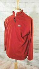 The North Face Men's Quarter Zip orange red Long Sleeve Base Layer Pullover L