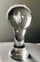 """Renato Anatra Signed Murano Italy MCM Art Glass Controlled Bubble Sculpture 9.5"""""""
