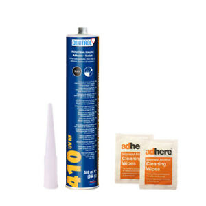 DINITROL 410NF BLACK SOFT TOP CONVERTIBLE FIXING ADH + 2 X PUR CLEANING WIPES