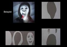 Airbrush Schablone Step by Step 350 Scary Movie