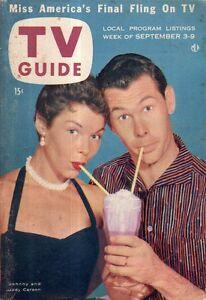 1955 TV Guide September 3 - Johnny Carson; Lee Ann Meriwether; Brooklyn Dodgers