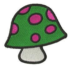 Écusson patch patche Champignon vert logo transfert déco