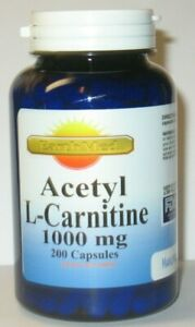 Acetyl L-Carnitine 1000mg Energy-Chronic Fatigue-Focus- 200 caps 3 Month Supply