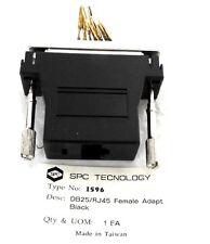 LOT OF 39 NEW SPC TECNOLOGY 1596 DB25/RJ45 FEMALE ADAPTERS BLACK