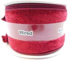Celebrate It Christmas Ribbon Wired Burgundy Velvet 2 1/2 in X 5 Yd Holiday
