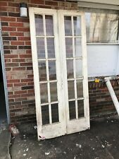 Mar Pink Pair Antique French Doors 36 1/4 X 79 15/16