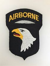 U.S. 101st Airborne Division cloth sleeve patch with Airborne tab on felt