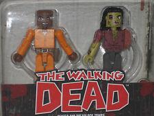 The Walking Dead Dexter & Dreadlock zombie minimates figure lot of2 mini toy NIB