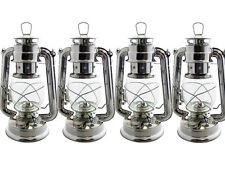 4 x PARAFFIN HURRICANE STORM LANTERN LIGHT LAMP OIL PARAFIN CAMPING PICNIC NEW