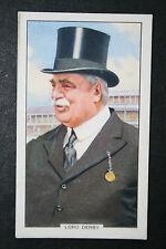 Lord Derby Racehorse Owner   Original 1930's Vintage Card # VGC