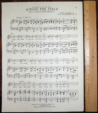 "OHIO STATE UNIVERSITY Vintage Song Sheet c1945 ""Across the Field"" - Original"