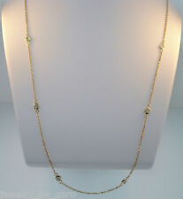 0.34 CARAT DIAMOND BY THE YARD NECKLACE 14K YELLOW GOLD