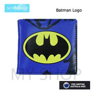 Batman Logo, Boys Girls Children Teen-ages Faux Leather Bi-fold Slim Wallet