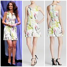 NWT $425 Milly Scribble Multi Print Racerback Dress US size 4 Spring SUMMER
