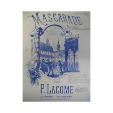 Lacome Paul Masquerade Piano 4 Hands 1886 Sheet Music Sheet Music Score