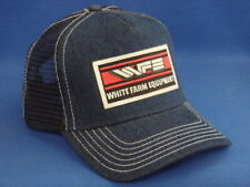 7c9fcee7f2f White Farm Equipment Tractor - Trucker Hat - Denim Mesh - Snapback