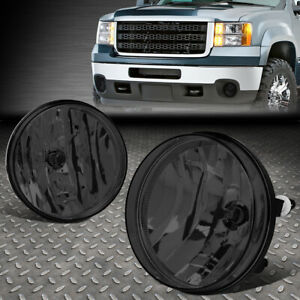 FOR 07-14 GMC SIERRA 1500 2500HD 3500HD SMOKED LENS FRONT DRIVING FOG LIGHT LAMP