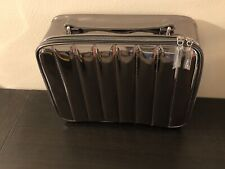 $55 Lancome Luxury Metallic Chrome Beauty Travel Cosmetic Makeup Train Case Bag