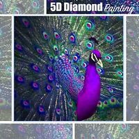 5D Peacock Design Full Drill Diamond Painting DIY Cross Stitch Embroidery Kit