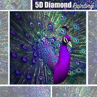5D Peacock Design Full Drill Diamond Painting DIY Cross Stitch Embroidery Kit
