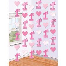 2.1m PREMIER 1st Fête d'anniversaire rose Tenture murale déco de porte