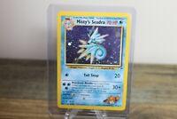 Misty's Seadra Prerelease Stamp 9/132 Pokemon Card Holo Rare Gym Heroes NM SWIRL
