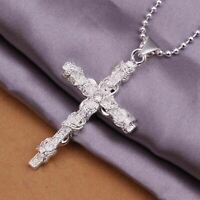 925 silver Beautiful Necklaces Cross Pendant Necklace 18inch 925 sterling silver
