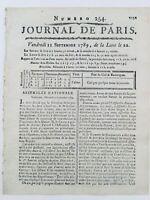 Rare Naissance de l'assemblée Nationale 1789 Révolution Française Beauharnais