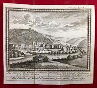Spa en 1784 Les Bains de Chaud Fontaines Belgique Rare Gravure Ancienne