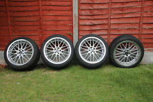 ACE 18 Inch Alloy Wheels, Goodyear F1 Tyres. One Tyre Damaged
