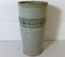Art Deco designed Poole vase with hand painted abstract motif - Omega Studio?
