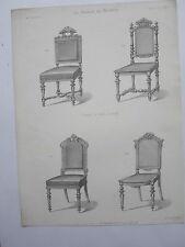 Siéges Chaises de salle à manger GRAVURE le MAGASIN de MEUBLES V. QUETIN XIXéme