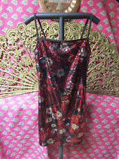 Express Spaghetti strap black/red sequined dress size Small (6) NWOT