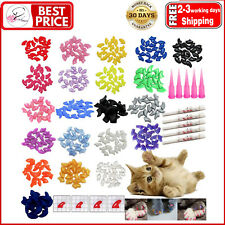 100Pcs Cat Nail Caps/Tips Pet Kitty Soft Claws Covers Control Paws Of…