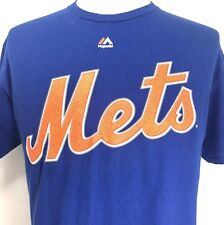 New York Mets T Shirt MATT HARVEY Majestic Blue Mens Large