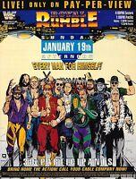 Royal Rumble 91 Legends Retro Wrestling Poster WWF Vintage Hologramed Ric Flair