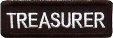 TREASURER Embroidered Biker Motorcycle MC Club Officer NEW Vest Patch PAT-1842