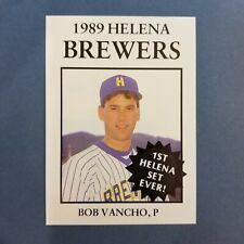 1989 Sports Pro HELENA Brewers #18 BOB VANCHO Trumbull CONNECTICUT