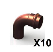 Bag 10 Copper Press Fitting, Elbow 90° (Male/Female) GAS 20mm (GCN12MF-2090)